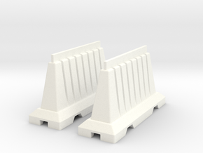 1:10 scale Safety barrier I in White Processed Versatile Plastic