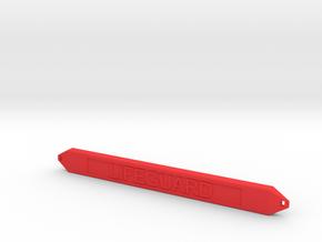 1:10 scale Rescue tube in Red Processed Versatile Plastic