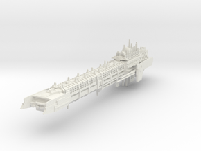 Imperial Legion Long Battle-Barge - Armament Conce in White Natural Versatile Plastic