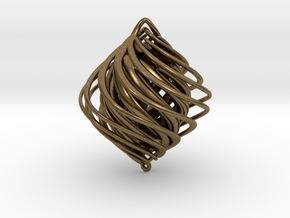 Twist Holiday Ornament in Natural Bronze