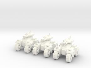 6mm - Devastator Assault Tank in White Processed Versatile Plastic