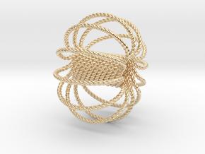 12 Ring Harmonizer Coil in 14K Yellow Gold