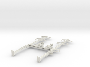CATENARY PRR BEAM SIG 2 TRACK 2-2PHASE N SCALE  in White Natural Versatile Plastic
