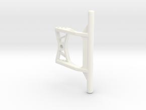 c24004-01 WPL C24 Rear Bumper in White Processed Versatile Plastic