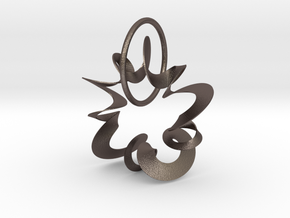 SPRINGY WIND MOVEMENT PENDANT in Polished Bronzed-Silver Steel