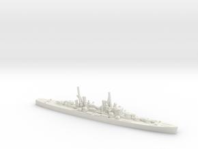 British Minotaur-Class Cruiser in White Natural Versatile Plastic: 1:1800