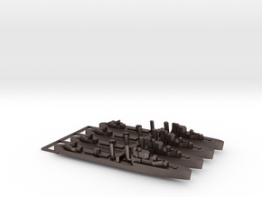 4pk with sprue Intrepid class 1:1800 WW2 destroyer in Polished Bronzed-Silver Steel