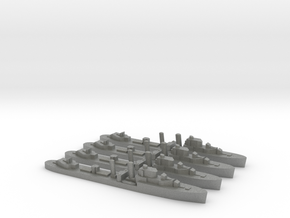 4 pack Intrepid I-class 1:3000 WW2 destroyer in Gray PA12