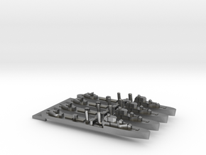 4pk with sprue Intrepid class 1:3000 WW2 destroyer in Natural Silver