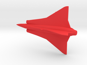 1:285 Saab Draken   in Red Processed Versatile Plastic