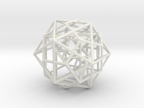 Nested Platonic Solids in White Strong & Flexible