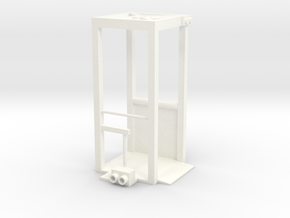 Security Checkpoint Booth in White Processed Versatile Plastic