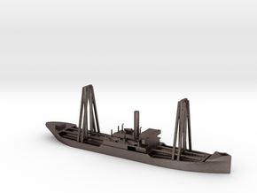 1/700 Scale 4200 ton Steel Cargo Ship Sapor in Polished Bronzed-Silver Steel