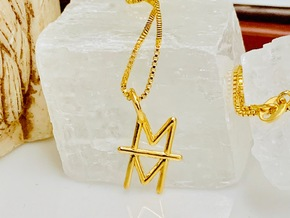 Mind over Matter Pendant in 14k Gold Plated Brass