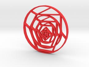 Cubist Rose in Red Processed Versatile Plastic