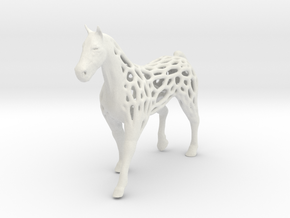 voronoi horse 2mm in White Natural Versatile Plastic