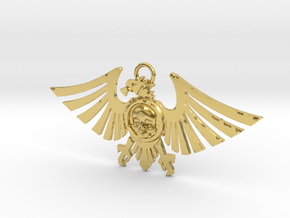 Leguio Custodes Aquila Necklace in Polished Brass