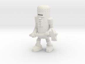 Dr. Satan's Robot, Axeman in White Natural Versatile Plastic: Small