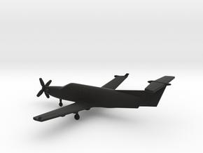 Pilatus PC-12 in Black Natural Versatile Plastic: 1:200