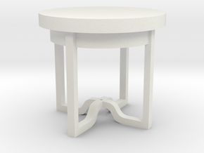 Round Table in White Natural Versatile Plastic