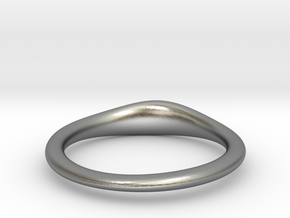 RING STACK V4 middle in Natural Silver
