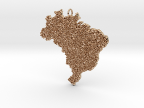 Brazil Grass Pendant in 14k Rose Gold: Small