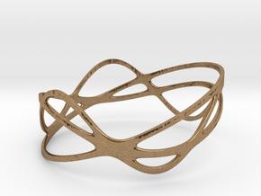 Harmonic Bracelet (67mm) in Raw Brass