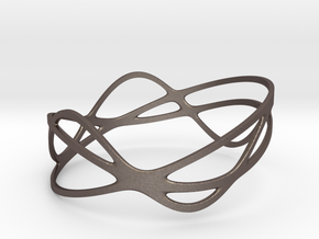 Harmonic Bracelet (67mm) in Polished Bronzed Silver Steel