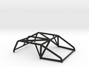 SCX24 Roll Cage Style A in Black Natural Versatile Plastic