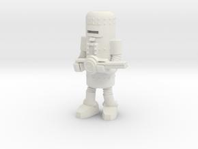 Dr. Satan's Robot, Gunner in White Natural Versatile Plastic: Small