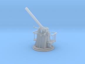 1/72 HMS 12 pdr 3''/45 Cal Gun Elevated in Smooth Fine Detail Plastic