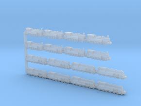 Set of Steam Locomotives: BR 78 (T18), BR 94 in Smoothest Fine Detail Plastic: 1:1250