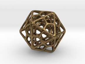 Double Icosahedron Silver in Natural Bronze
