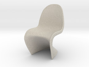 """Panton Chair 1:10 (1/2"""") Scale  in Natural Sandstone"""
