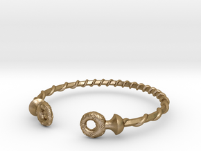 Torque Bracelet in Polished Gold Steel