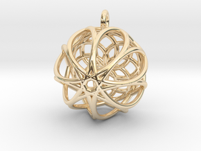 Octagram Pendant in 14k Gold Plated Brass