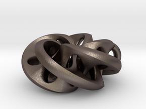 Moebius II, pendant in Polished Bronzed Silver Steel