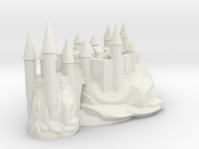 NEW CITY CASTLE in White Natural Versatile Plastic