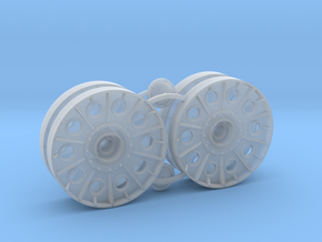 1/32 scale T-34 Wheels (Steel Rimmed) in Smooth Fine Detail Plastic