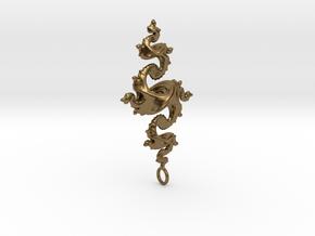 Dragon Pendant 4cm in Natural Bronze