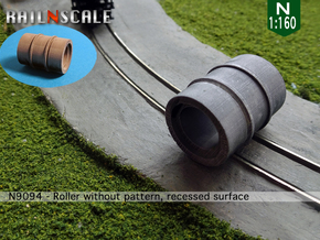 Roller without pattern, recessed (N 1:160) in Smooth Fine Detail Plastic