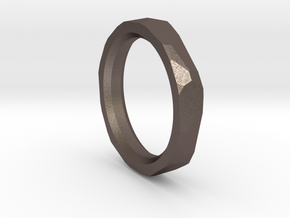 Geometric Band in Polished Bronzed-Silver Steel: 13 / 69