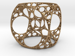 Apollonian Cube in Natural Brass