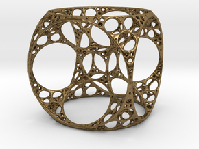 Apollonian Cube in Natural Bronze
