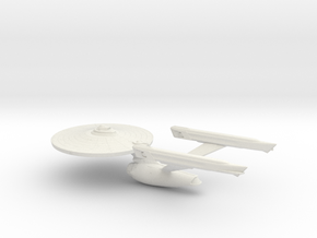 Star Trek USS Enterprise A in White Natural Versatile Plastic