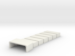 1:32 Viper Bay Wall (A) in White Natural Versatile Plastic