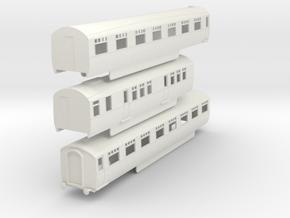 0-87-lner-silver-jubilee-C-D-triplet-coach in White Natural Versatile Plastic