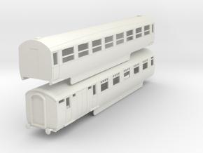 0-100-lner-silver-jubilee-E-F-twin-coach in White Natural Versatile Plastic