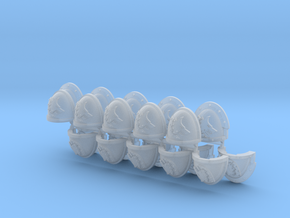 Commission 67 shoulder pads part I in Smooth Fine Detail Plastic