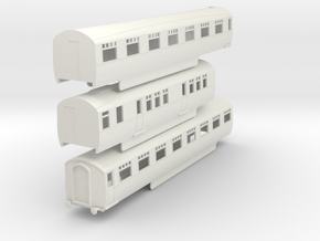0-100-lner-silver-jubilee-C-D-triplet-coach in White Natural Versatile Plastic